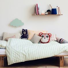 The simple but beautiful Shelf by Ferm Living is made of oak veneer. Use it with the Shelf hangers by Ferm-Living and create a unique shelf system just for you. Baby Bedroom, Kids Bedroom, Kids Rooms, Casa Kids, Cloud Lamp, Kids Room Wallpaper, Kids Room Design, Kid Spaces, Kids Decor