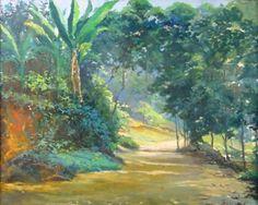 Paisagem no Estado do Rio, s./d. David Correa Saavedra (Brasil, 1901-1968) óleo sobre eucatex, 46 x 55 cm