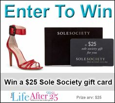 Enter To Win A $25 @SoleSociety Gift Card! #style #women #shoes - via @YourLifeAfter25