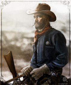 Cowboy by ~gregmks on deviantART. Love this law dog-looking hombre.