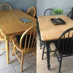 Diy Furniture Renovation, Diy Furniture Projects, Refurbished Furniture, Repurposed Furniture, Furniture Makeover, Dining Table Makeover, Sweet Home, Furniture Restoration, Kitchen Remodel