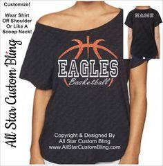 Basketball Team Mascot Glitter Dolman Shirt, Basketball Mom Shirt, Custom Basketball Mom Glitter Shirt, Basketball Shirt by AllStarCustomBling on Etsy