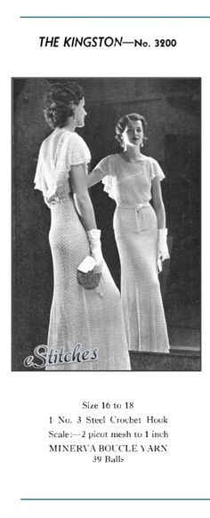 1930s Backless Evening Gown or Wedding Dress with by eStitches, $4.50