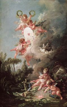 Jean Antoine Watteau, Cherubs, Art And Architecture, Decoupage, Rococo Painting, Rococo Style, French Art, Old Art, Angel Art