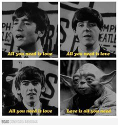 all you need is love #starwars #beatles