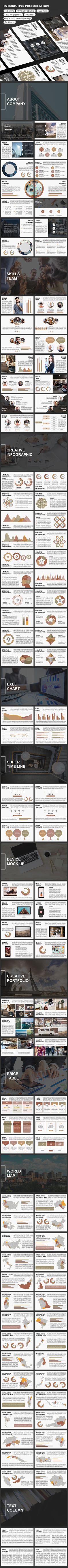 Round Creative Business Powerpoint Template  Magazine