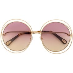 4f48e5713dd4 Chloé Eyewear oversized round sunglasses (1.655 RON) ❤ liked on Polyvore  featuring accessories