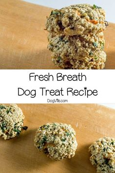 Ready to give Fido's stinky breath a makeover? Our homemade fresh breath dog treat recipe should do the trick! If you're looking for hypoallergenic dog treat recipes, these are great unless your pooch has an oat or egg allergy Dog Nutrition, Nutrition Guide, Homemade Dog Treats, Pet Treats, Dog Treat Recipes, Dog Food Recipes, Hypoallergenic Dog Treats, Make Dog Food, Cool Dog Houses