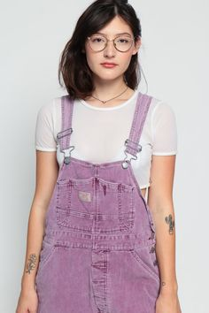 Corduroy Overalls Purple Overall Shorts Shortalls by ShopExile