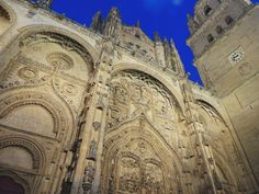 Old. Cathedral. Salamanca. Spain. South. Trip. Travel, Traveling. Night. Photograph. Art | Instagram: cbriannem