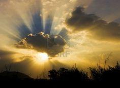 Sun Shining Through Clouds Tattoo 15581039-image-of- sun - shine ...