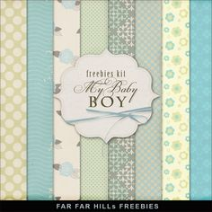 Far far hill: new freebies kit - my baby boy digital card making скрапбукин Free Digital Scrapbooking, Digital Scrapbook Paper, Digital Paper Freebie, Printable Scrapbook Paper, Papel Scrapbook, Printable Paper, Digital Papers, Scrapbook Kit, Baby Boy Scrapbook