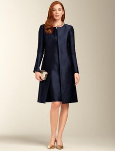 Talbots - Doupioni No-Close Duster |  Maybe something like this - with a hat - for the church?