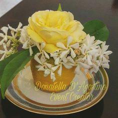 Segnaposto profumato al limone gelsomino e rosa gialla
