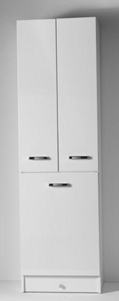 Mobile lavanderia colonna Eko 58x37x200 con cesto portabiancheria