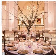 Cherry blossom wedding center piece