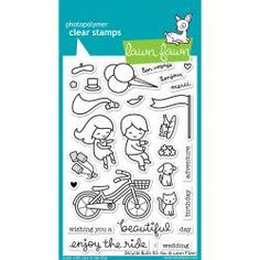 """LF1323 Lawn Fawn Clear Stamps Bicycle Built For You 4""""X6"""""""