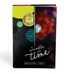 A Wrinkle in Time by Madeleine L'Engle. This designer reads books and then redesigns their covers. Awesome!!