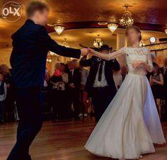 Suknia ślubna muślin, koronka, rękaw 3/4 Tarnów - image 2