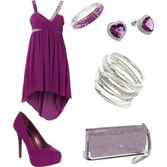 Purple Dress Outfit, created by sofresh-creations on Polyvore