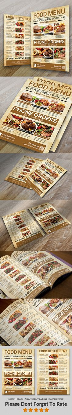 Food Menu - Food Menus Print Templates Download here : https://graphicriver.net/item/food-menu/19562693?s_rank=55