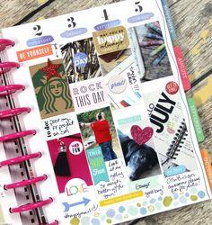 July week in The Happy Planner™ of mambi Design Team member Candi Billman | me & my Big ideas