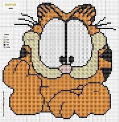 """Delicado Cantinho: Gráficos Ponto Cruz """"Garfield"""""""