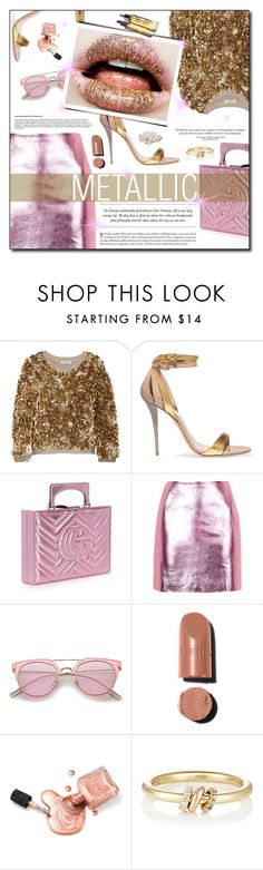 """""""Senza titolo #893"""" by francescar ❤ liked on Polyvore featuring Burberry, Balmain, Gucci, Topshop, Chanel, Garance Doré and SPINELLI KILCOLLIN"""
