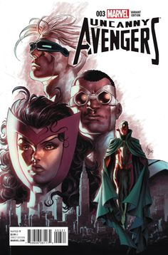 Uncanny Avengers #3 variant cover by Mike Deodato Jr., colours by Frank Martin *