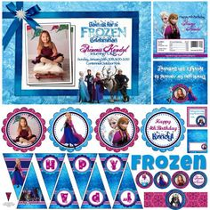 disney frozen printable birthday party stuff - Google Search