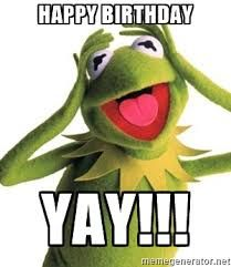 Image result for kermit happy birthday