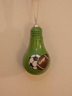 Soccer and Football Bulb Ornament