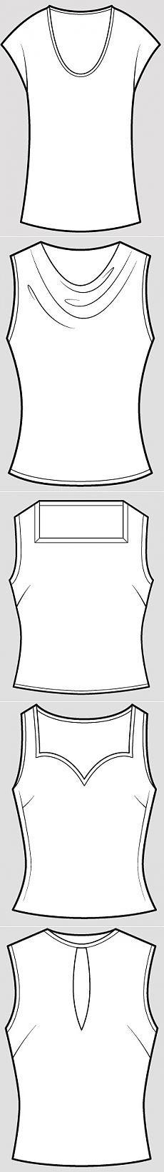 Конструктивные элементы одежды: часть 1: Вырез горловины - «Ретро стиль, мода и шитье»