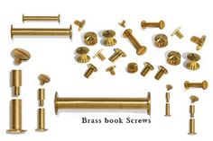 Brass Binding screws Book Binding Screws  #BrassBindingscrews  #BookBindingScrews   We offer a wide array of #BrassbookScrews  #BrassBinderSets  #BrassBookBindingScrews  #BrassBindingposts and #malefemaleScrews (with and with flutes /serrations) and #FemaleBindingposts  #Chicagoscrews  also known as Intercrews and menu screws. Binding screws can be used for a wide variety of jobs. From binding loose sheets of paper to creating menus, brochures and swatches.