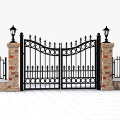 3Ds Max Wrought Iron Gate - 3D Model