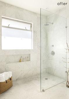 carrarra bathroom