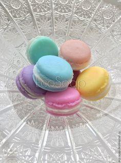 Купить Macaron. Мыло ручной работы. - комбинированный, macaron, macarons, макаруны, макарунс, Макарун