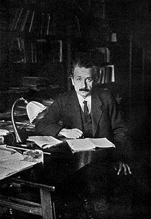 Einstein als professor aan de universiteit van Berlijn (1920)
