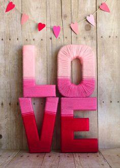 Love yarn letters.