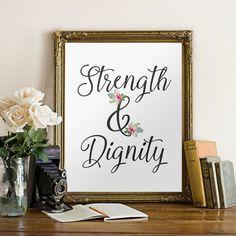 Printable verse Proverbs 31:25 Bible Verse by TwoBrushesDesigns #printableverses #bibleverses #wallart