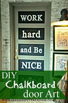 Serendipity Refined: Antique Farm House Inspired DIY Chalkboard Door Art