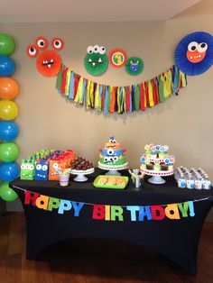 Monster Party First Birthday