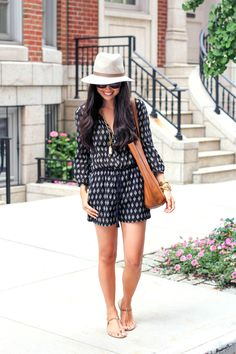 Outfit.. Madewell Romper with Sole Society Sandals.