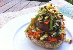 Spiced Peppercorn Burger with Asian Slaw recipe