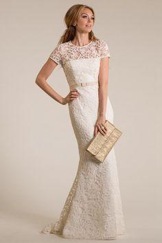 Trumpet/Mermaid Jewel Sweep/Brush Train Short Sleeve Lace Wedding Dresses UK with Sash Style l50529