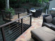 iron deck rails | ... and liked the product from Behr the best–here's the finished deck