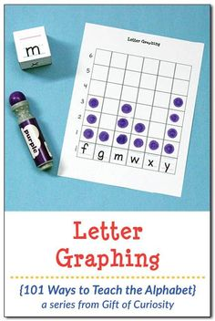 Free printable Letter Graphing activity to help children work on letter recognition, letter formation, and early math skills in the form of graphing. Graphing Activities, Preschool Literacy, Alphabet Activities, Alphabet Worksheets, Kindergarten Worksheets, Literacy Centers, Alphabet Writing, Teaching The Alphabet, Alphabet Letters