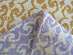 Diversified Plain Weave (Thick 'N Thin variation) Fabric for Pillows, wool and pearl cotton