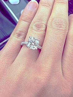 cushion cut Tacori Engagement Ring.