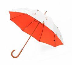 Agi & Sam x London Undercover White Fox Umbrella